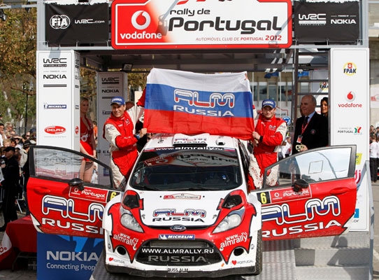 Evgeny Novikov and Denis Giraudet / Rally Portugal 2012